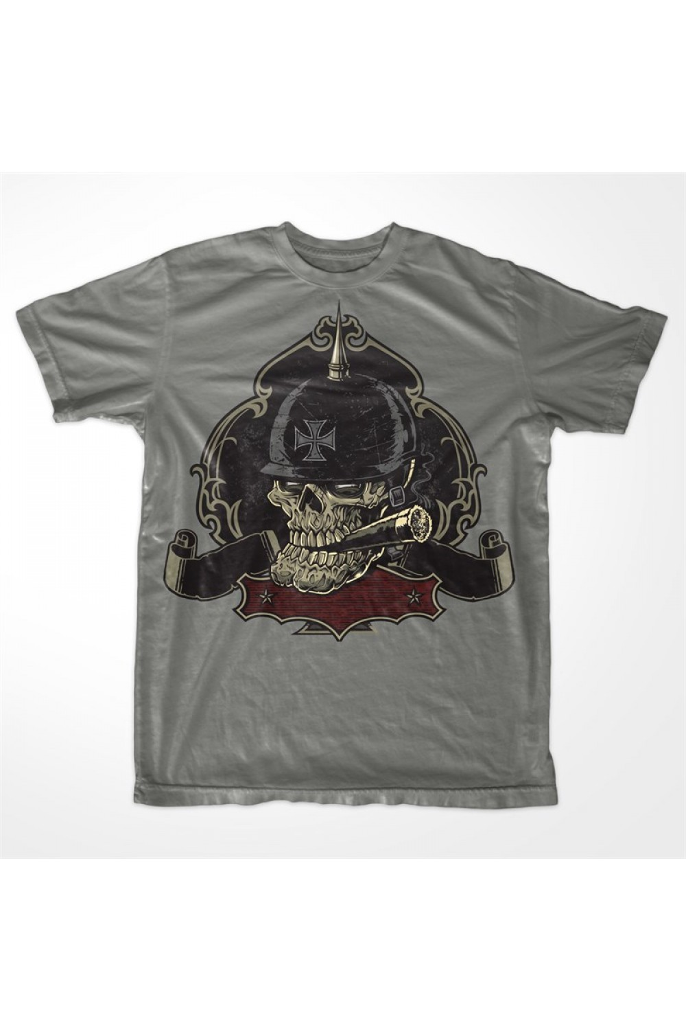 War Skull Men Printed T-shirt 4011